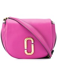 Marc Jacobs Kiki Saddle Bag Pink Purple