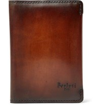 Berluti Ideal Bifold Leather Cardholder Brown