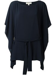 Michael Michael Kors Boatneck Tunic Top Blue