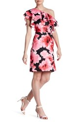 Alexia Admor One Shoulder Ruffle Dress Pink