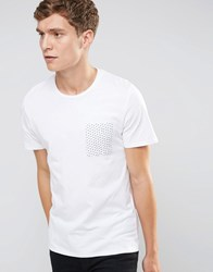 Selected Homme T Shirt With Contrast Pocket White