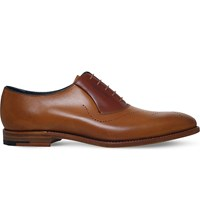 Barker Harry Wholecut Leather Oxford Shoes Tan
