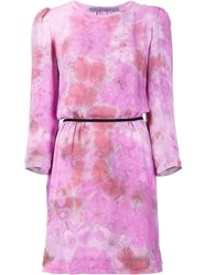 Raquel Allegra Marble Print Dress Pink Purple