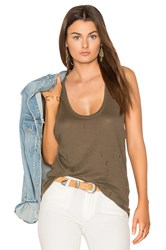 Black Orchid Distressed Tank Olive