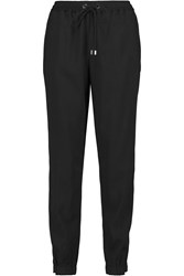 Michael Michael Kors Stretch Crepe Track Pants Black