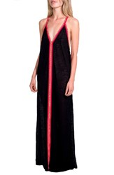 Pitusa Women's Cover Up Maxi Dress Solid Black