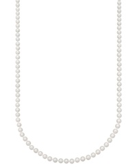Belle De Mer Pearl Necklace 30' 14K Gold Aa Akoya Cultured Pearl Strand 6 6 1 2Mm