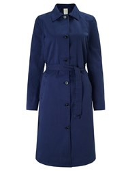 Numph Katia Trench Coat Medieval Blue