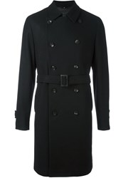 Hevo Double Breasted Coat Black