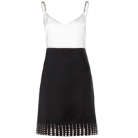Marc Jacobs Embellished Silk And Wool Blend Dress Black Ivory