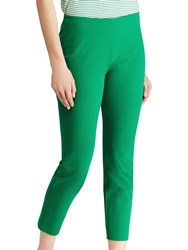 Ralph Lauren Keslina Stretch Twill Skinny Crop Trousers Tropical Green
