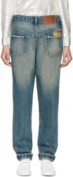 Ashish Blue Back To Front Jeans