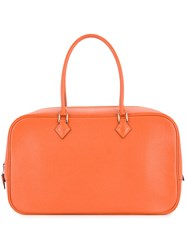 Hermes Vintage Myzore Tote Yellow And Orange