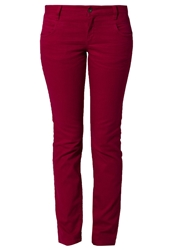 S.Oliver Straight Leg Jeans Purple Red