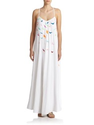Mara Hoffman Embroidered Cross Back Maxi Dress White