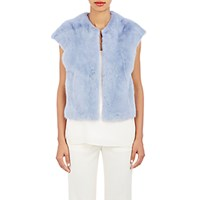 Lilly E Violetta Women's Mink Christine Gilet Light Blue