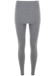 Mint Velvet Silver Grey Skirted Legging
