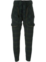 Faith Connexion Tartan Belted Pants Blue