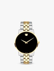 Movado 607200 'S Museum Classic Two Tone Bracelet Strap Watch Silver Gold