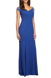 Alex Evenings Women's Embellished Stretch Gown
