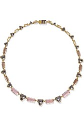 Larkspur And Hawk Caterina Gold Dipped Quartz Necklace One Size