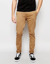 Minimum Slim Chino In Stretch Cotton In Tan Beige