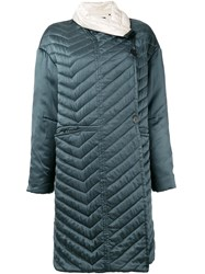 Isabel Marant Quilted Coat Green