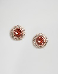 Ted Baker Daisy Stud Earrings Rose Gold And Coral