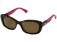 Kate Spade Claretta P S Havana Pink Bronze Polarized Lens Fashion Sunglasses Brown