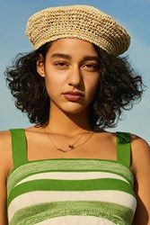 Urban Outfitters Straw Beret Neutral