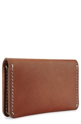 Red Wing Shoes Leather Card Holder Brown Oro Russet