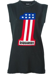 Dsquared2 Number One Print Tank Top Black