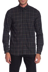 The Kooples Flannel Slim Fit Shirt Gry25