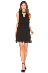 Bcbgeneration Ruffle Front Dress Black