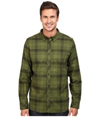 The North Face Long Sleeve Approach Flannel Rosin Green Men's Clothing