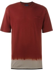 Lanvin Dip Dye T Shirt Red