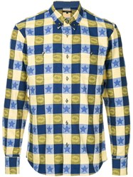 Guild Prime Star Check Shirt Yellow And Orange