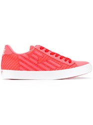 Emporio Armani Ea7 Pride Mesh Sneakers Women Polyester Synthetic Resin Rubber 39 Pink Purple