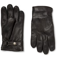 Hestra Shearling Lined Leather Gloves Black