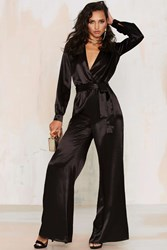 Nasty Gal After Party Vintage Love The Nightlife Plunging Jumpsuit