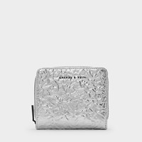 Charles And Keith Mini Textured Wallet Silver