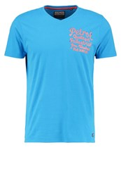 Petrol Industries Print Tshirt Dark Aqua Blue
