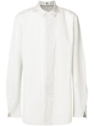 Lost And Found Ria Dunn Stripe Panel Shirt White