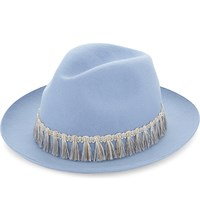 Superduper Hats Super Duper Lapin Wool Fedora Hat Light Blue