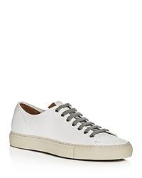 Buttero Tonino Leather Lace Up Sneakers White