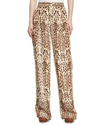 Adam By Adam Lippes Leopard Print Menswear Pants Gray Pattern
