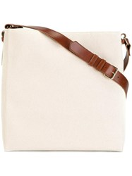 Lanvin Large Open Shoulder Bag Nude Neutrals