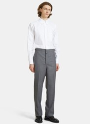 Thom Browne Classic Fit Side Tab Oxford Jumpsuit White