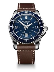 Tw Steel Maverick Stainless Steel And Leather Watch Brown