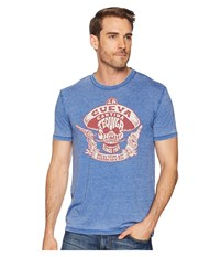 Lucky Brand Tequila Shooters Tee Monaco Blue Clothing